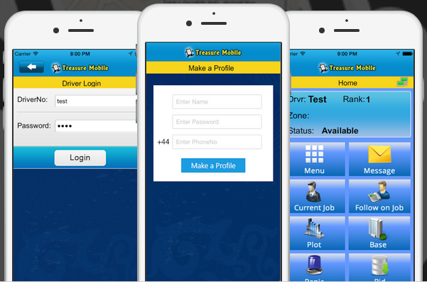 CabTreasure Mobile 2 – The Ultimate Smartphone App for Dispatching JOBS to Drivers