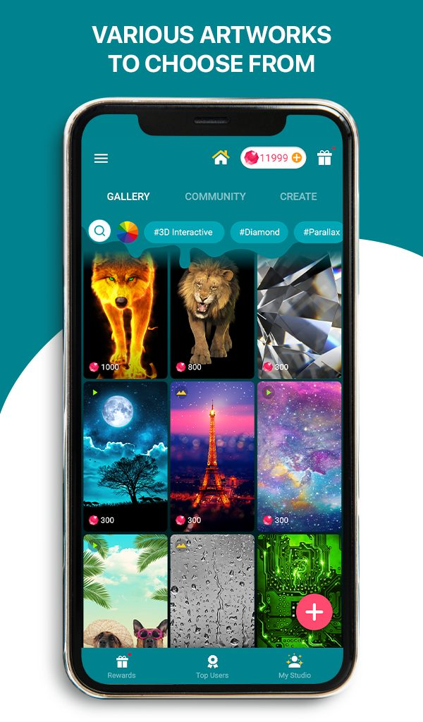 Live Wallpapers 4k & HD Backgrounds by WAVE - The Ultimate Free App to Design Your Phone Screen